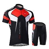 Lixada Abbigliamento Ciclismo Uomo Asciugatura Veloce Maglia Manica +Pantaloncini Abbigliamento da Ciclismo Abbigliamento Sportivo da Equitazione