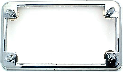 "2 Chrome Billet Aluminum /""Red/"" LED Lighted License Plate Frame Lic Tag Bolts"
