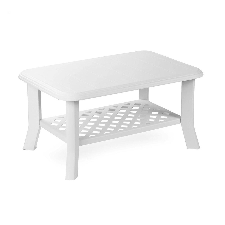 Mojawo Bistro Table Plastic 80 x 75 cm Fiocco Green Square Balcony Table Garden Table Patio Table