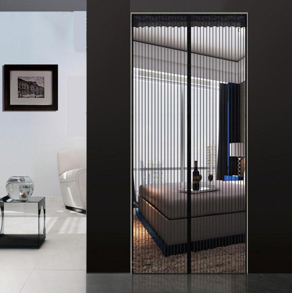 LJ&XJ Cortina del Acoplamiento magnético Puerta Anti-Mosquitos,Cierre automaticlly Exclusivo Velcro Suave Sellado de Ventilación Espesa la Puerta del Dormitorio Rayas Pantalla-C 130x240cm(51x94inch): Amazon.es: Hogar