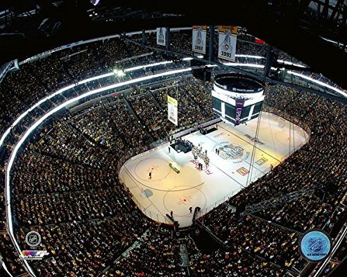 (Pittsburgh Penguins PPG Paints Arena 2016 Stanley Cup Banner Raising Photo (Size: 8