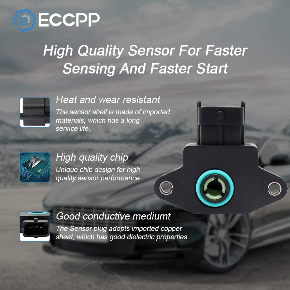 ECCPP Throttle Position Sensor Fit for Cadillac Catera//Dodge Attitude Verna//Hyundai Accent Elantra Tiburon Tucson//Kia Spectra Spectra5 Sportage//Saab 9-3 900 9000 35170-22600 TPS Sensor