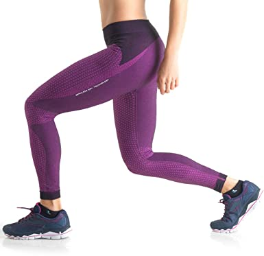 dfc3a9d10 Amazon.com  Lupo Women s Micro Print Seamless Sports Leggings