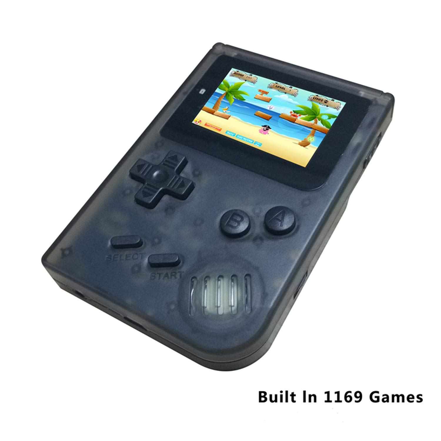 BAORUITENG Handheld Games Consoles , Retro TV Game Console Video Game Console Player 2.0 Inch Game Console with 1169 GBA System Classic Games for Kids Gift (Black) by BAORUITENG (Image #1)
