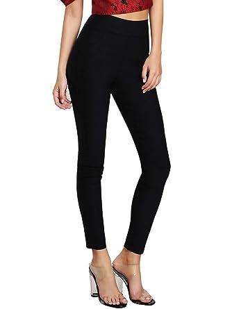 7655e3bec12 Verdusa Women's Slim Fit High Waist Skinny Jegging Pants at Amazon ...