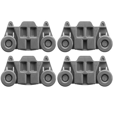 HELEISH 4 piezas de montaje de ruedas de lavavajillas para ...