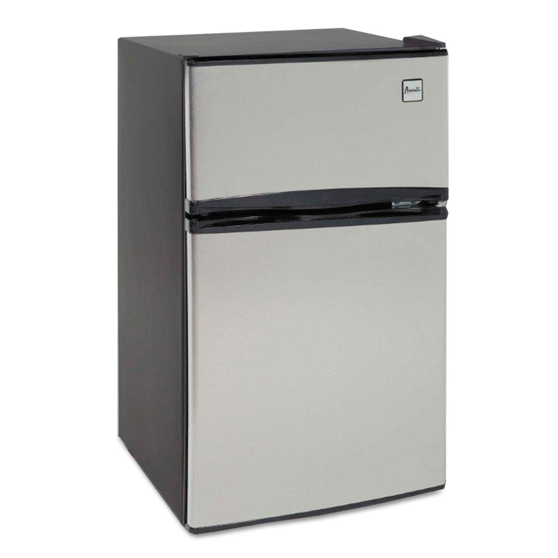 Avanti RA3136SST Counter-Height 3.1 Cu. Ft Two-Door Refrigerator/Freezer, Black/Stainless Steel