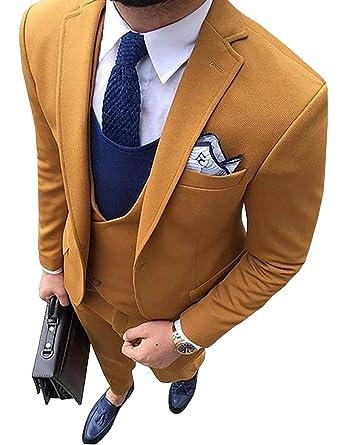 Traje Formal de 3 Piezas para Hombre de Tweed de Cuadros para ...