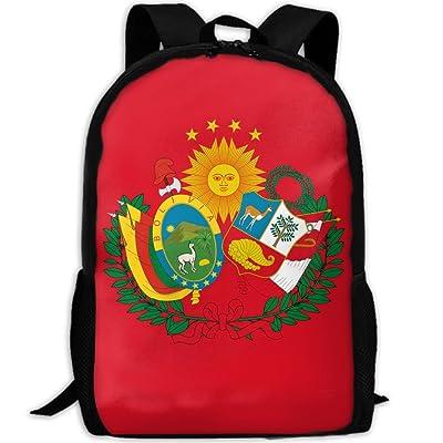 Kuswaq Flag Of The Peru Bolivian Confederation Unisex Novelty Fashion Laptop Bag Hiking Gym Bag Backpack