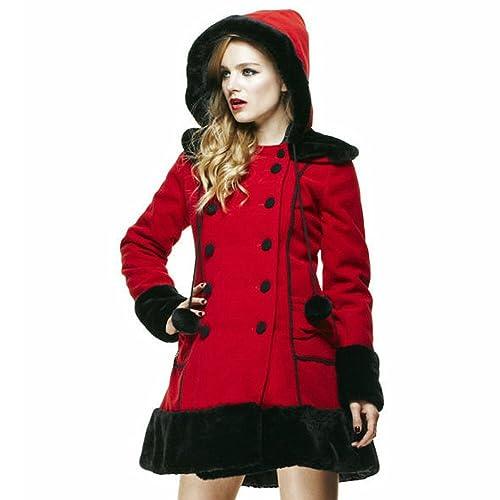 Hell Bunny–Sarah Jane abrigo (rojo)
