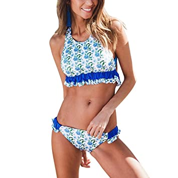 Tops de Bikini Mujer Push-up Trajes de baño Dos Piezas Sexy ...