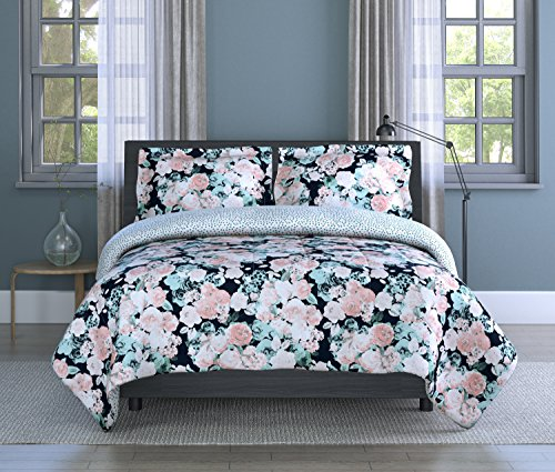 - Inspired Surroundings Pink/White Multi, Comforter Set English Garden, Twin, Pink/White/Multicolor