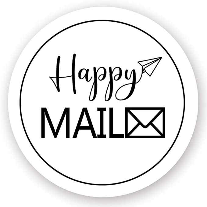 Boho Happy Mail Label Sticker for Letter Packaging Mailing