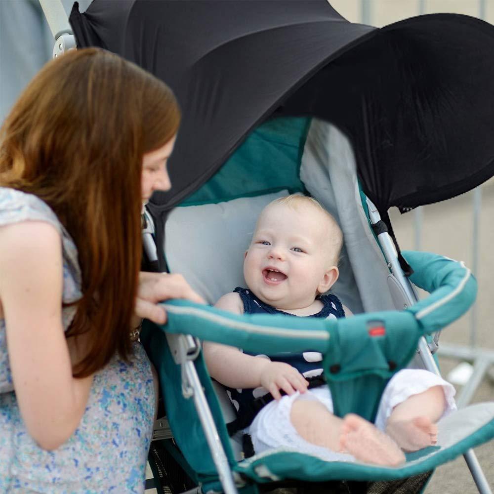 Baby Buggy Autositz hat Ausgezeichneter UV-Schutz sitable f/ür Outdoor Reisen Sun Shield Schwarz Infant Kinderwagen Sonnensegel Baby Buggy schwarz Sun Shield auvstar Baby Buggy Sun Kinderwagen