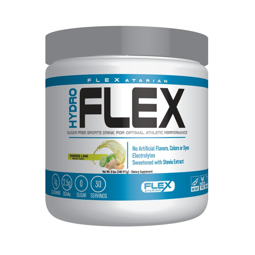 Flexatarian Hydro Flex, Natural Hydration Powder with BCAAs, Ginger Lime, 30 Servings