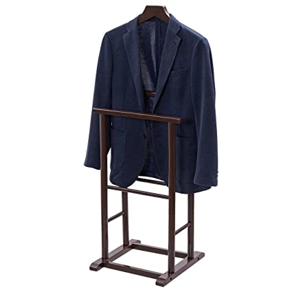 Beau TANGKULA Clothes Valet Stand Holder Wood For Men Portable Suit Coat Rack  Hanger Stand For Home