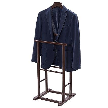 TANGKULA Clothes Valet Stand Holder Wood For Men Portable Suit Coat Rack Hanger Home