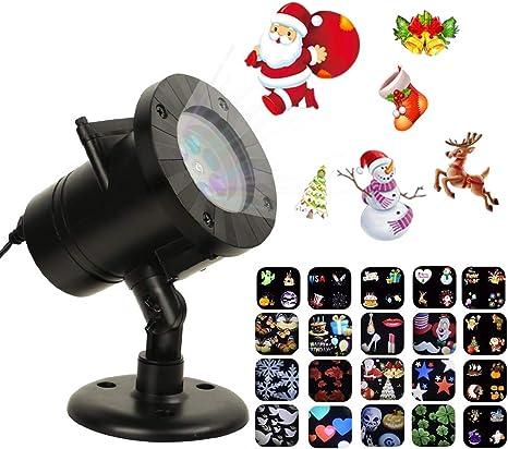 Amazon.com: Tcamp Proyector de luz de Navidad, luces LED ...