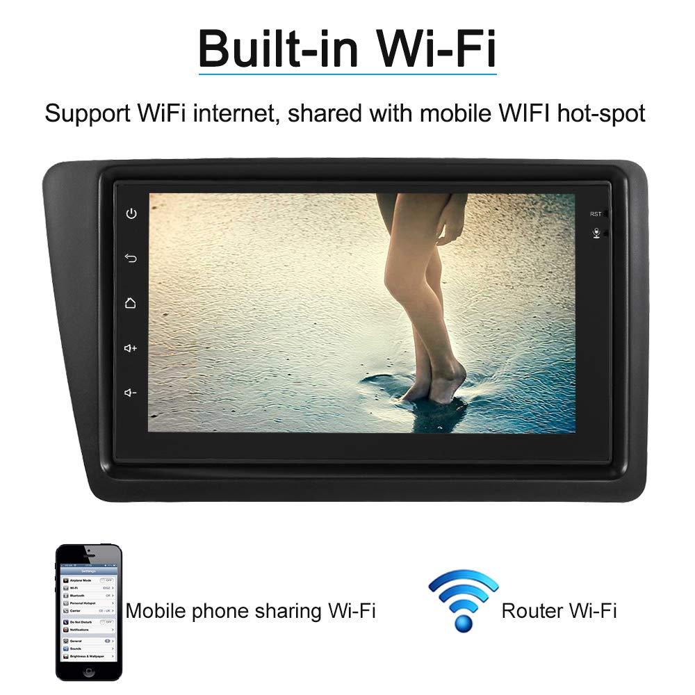 KKmoon Reproductor de Radio de Coche 7 inch 2Din Radio Coche Pantalla Tactil Android 6.0 con BT WIFI AM//FM