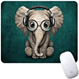 Marphe Mouse Pad Green Pattern Headset Music Panda Mousepad Non-Slip Rubber Gaming Mouse Pad Rectangle Mouse Pads for…