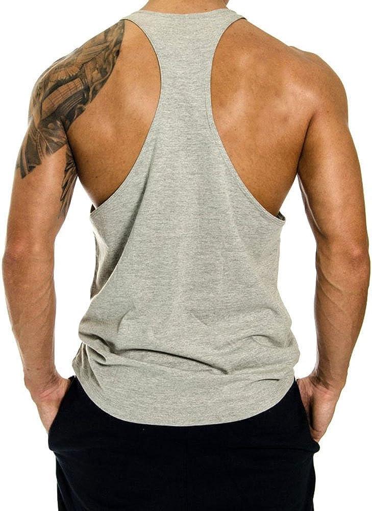 InleaderStyle Men Gym Bodybuilding Blank Stringer Cotton Tank Top Vest 1//3 Pack