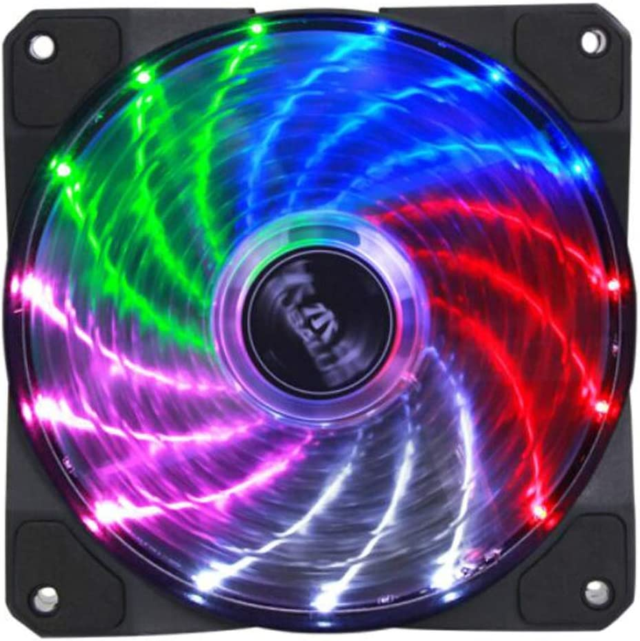 Computer Power Fan//CPU Cooling Fan//Mute//Shock Absorber Pad//with Screws Intelligent Temperature Control. Chassis Fan Chengjinxiang CPU Cooler Color : Black