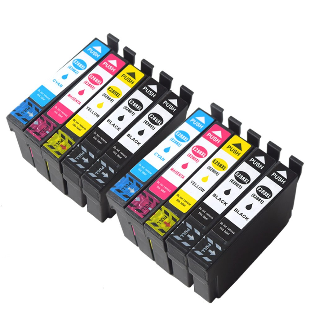 ouguanインクリサイクル288 288 X Lインクカートリッジ互換で使用Epson式ホームxp-330、xp-340、xp-430 xp-440 xp-434 xp-446プリンタ B07C7X1SLL 4 Black, 2 Cyan 2 Magenta, 2 Yellow 10 Pack 4 Black, 2 Cyan 2 Magenta, 2 Yellow 10 Pack