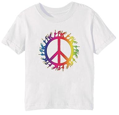 fcacd9af1f Erido Frieden Und Liebe Kinder Unisex Jungen Mädchen T-Shirt Rundhals Weiß  Kurzarm Alle Größen Kids Boys Girls White All Sizes: Amazon.de: Bekleidung