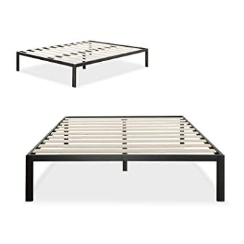 zinus modern studio 14 inch platform 1500 metal bed frame mattress foundation no boxspring