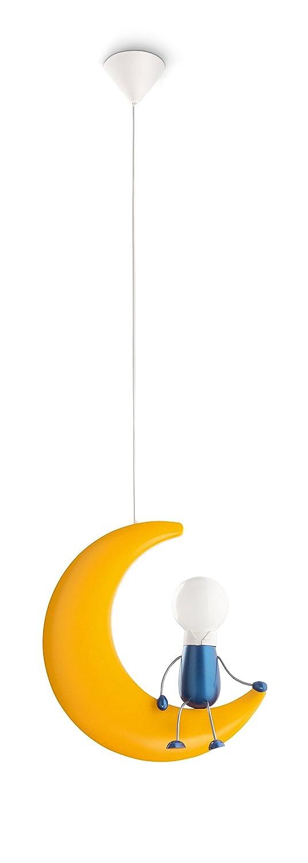 Philips Lighting Lunardo Colgante E27, 50 W, Amarillo