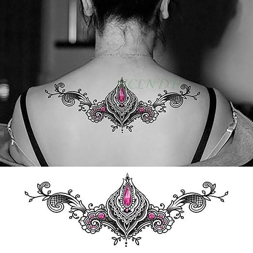 4pcs Impermeable Tatuaje de la Etiqueta engomada cristalina del ...