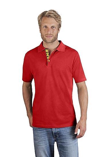 Polo Premium Hommes, rouge feu