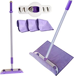Powerizer: New WonderWedgie Microfiber Cleaning System - Household Cleaning Supplies - 1 Kit - Includes Wedge Design Mop Head, 2 Microfiber Cleaning Cloths, Telescoping Pole, and Storage Organizer