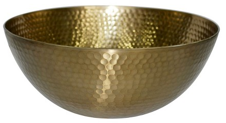 Threshold™ Hammered Large Serving Bowl with Gold Finish : Target