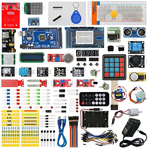 Seesii MEGA 2560 Ultimate Starter Kit with Tutorial for Arduino UNO R3 Nano Servo Motor, modules, sensors(230 Components)
