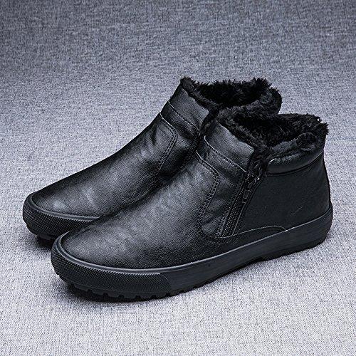 Feifei Rutschfeste UK8 Farbe Schwarz Farben halten 5 CN43 3 EU42 Verdickung Größe Freizeitschuhe Warm Herrenschuhe pwIdxZCqZ
