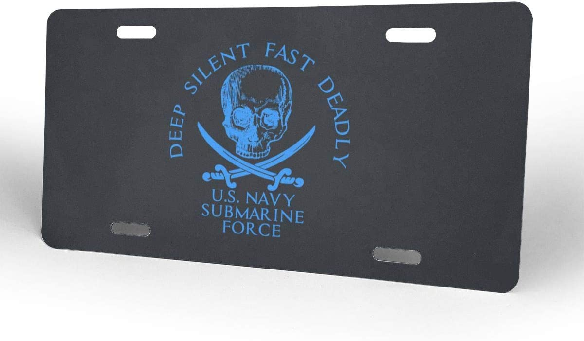 Nizheng US Navy Submarine Force Deep Silent Fast Deadly Seal Universal Front Bumper License Plate 6 X 12