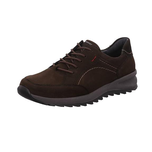 Waldläufer Chaussures de Ville à Lacets pour Homme - Marron - Dunkel-Braun, 43 EU