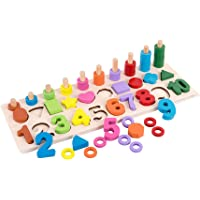 Webby Wooden Educational Learning Numbers & Shapes Puzzle Game for Kids
