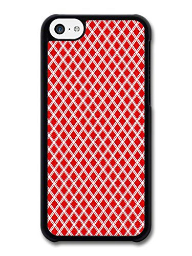 Red Diamond Hipster Design with Material Effect case for iPhone 5C