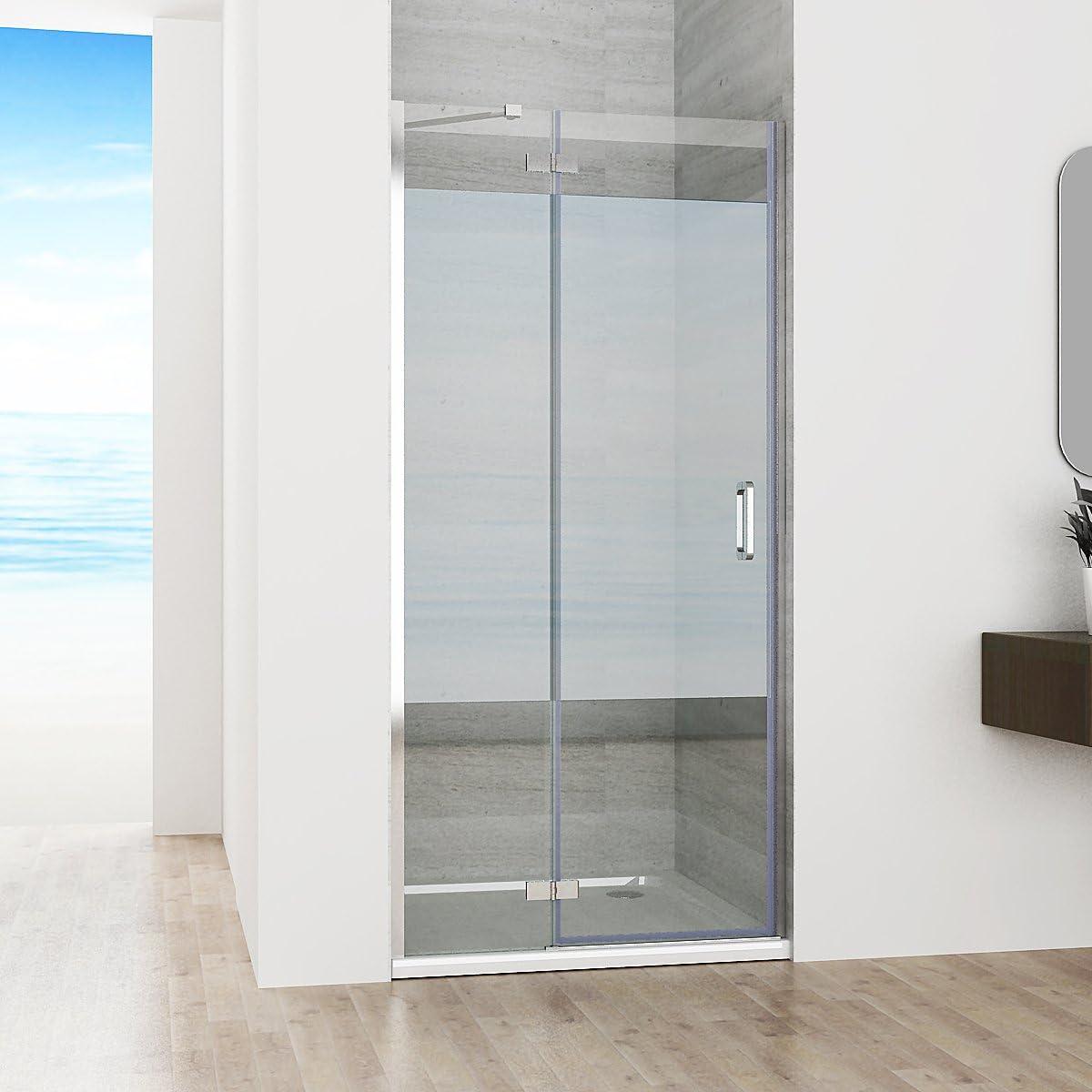 100 X 195 cm Mampara de ducha nichos de puerta puerta bisagra ...
