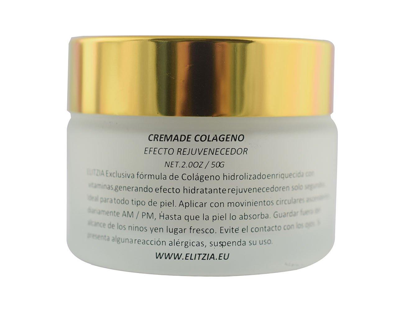 Elitzia ETCC001 crema de colágeno anti-arrugas hidratante piel suavizar la naturaleza: Amazon.es: Belleza