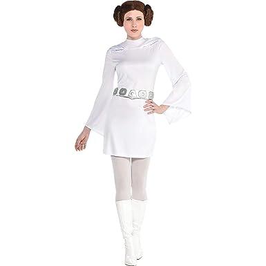 Amazon.com: Vestido de princesa Leia para mujer, tamaño ...