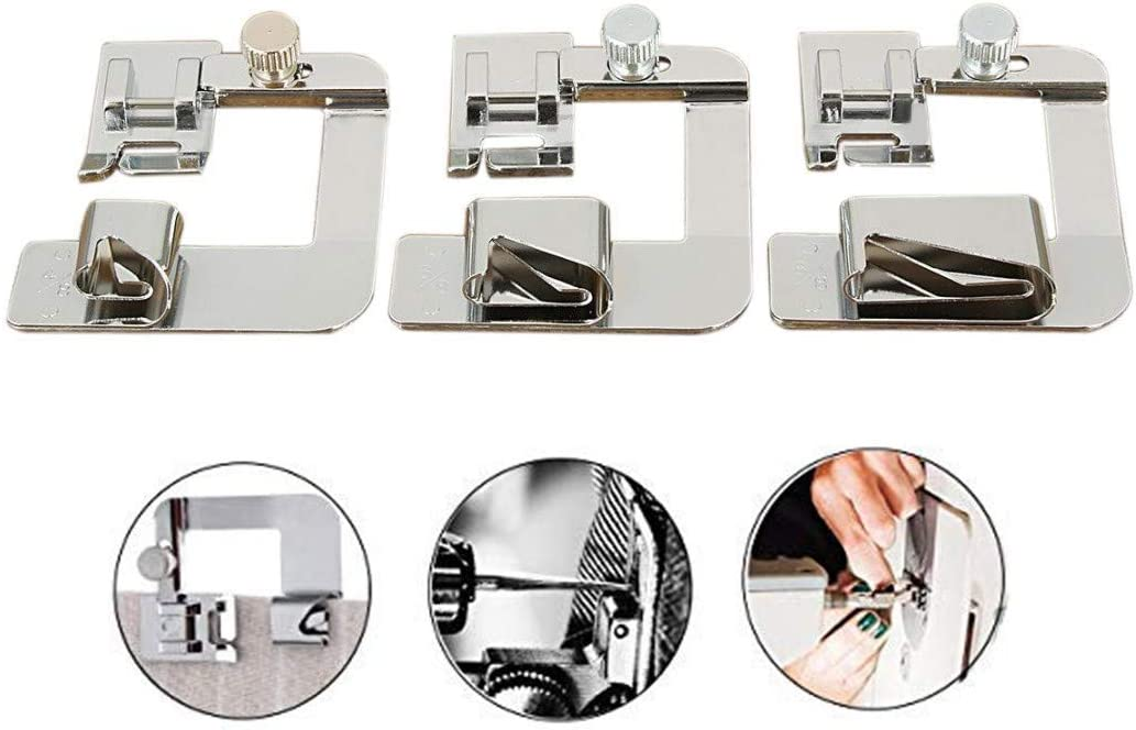 Babylock Kenmore Juki Border Guide Sewing Machine Presser Foot Parallel Stitch Feet Tool Fits All Low Shank Snap-on Singer Brother Simplicity Janome Euro-Pro Elna and More White New Home