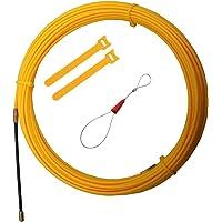RUNCCI-YUN 15m Guia Pasacables, Kit de Enhebrado de Cables, Electricistas Alambre Threading Dispositivo, Enhebrador de…
