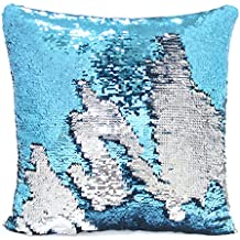 """MHJY 16 x 16 """" Mermaid Pillow with Insert Reversible Flip Sequin Pillows Magic Sequin Pillow with Color Changing Throw Pillow for Home Decor —— With Insert"""