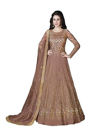 58080a2ba9 Amazon.com: Riva Fashion Embroidered Net and Abaya Style Lehenga Suit,Salwar  Kameez Suit for Women: Clothing