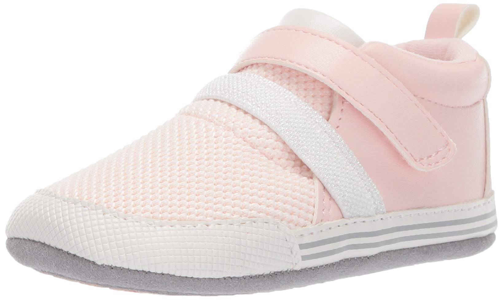 Ro + Me by Robeez Girls' Jill Athletic Sneaker Crib Shoe, Pink, 12-18 Months by Ro + Me by Robeez