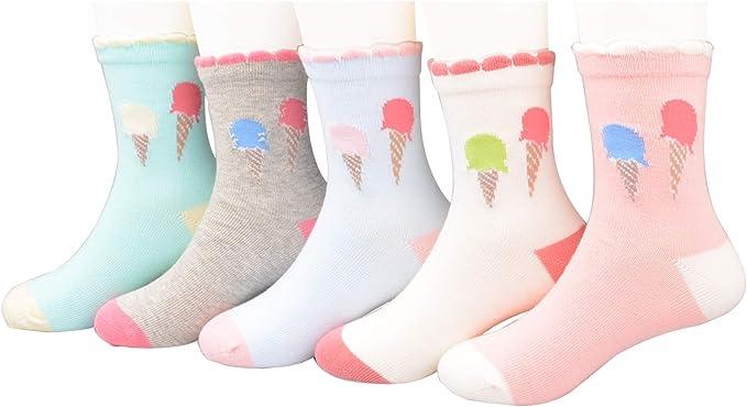syisocks Calcetines de algodón para niñas con diseño de gato y ...