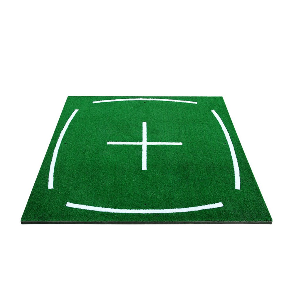 PGM Golf Course Hitting Mat Driving Range Practice Mat----4.92FT X 4.92FT, With Alignment Line, Teaching Equipments